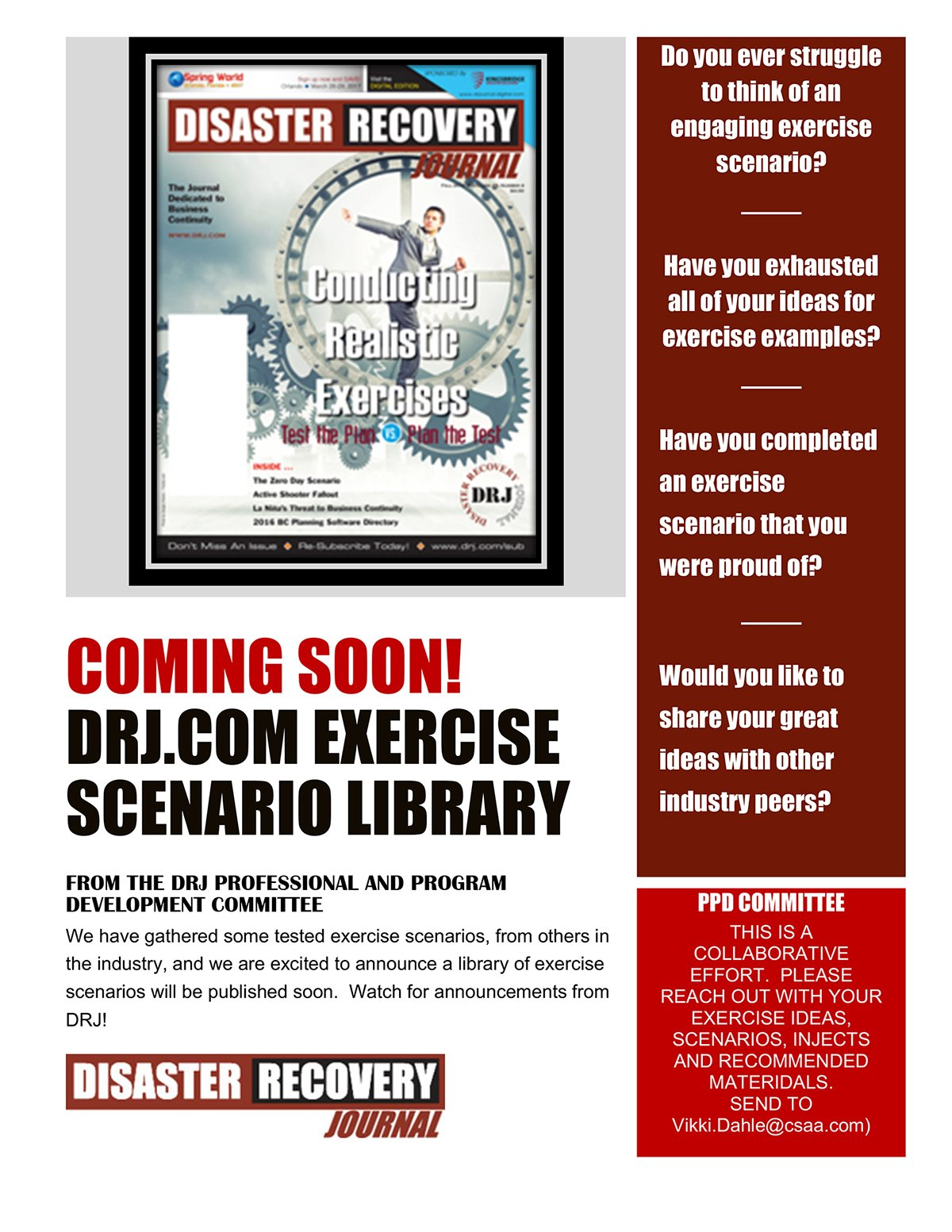 Coming Soon! DRJ.com Exercise Scenario Library
